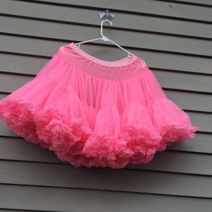 Vintage pink Nylon petticoat slip Rockabilly
